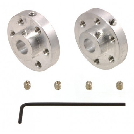 Pololu 1993 - Pololu Universal Aluminum Mounting Hub for 1/4â€l Shaft, #4-40 Holes (2-Pack)
