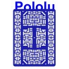 Pololu 1542 - Pololu RP5/Rover 5 Expansion Plate RRC07B (Wide) Solid Blue