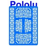 Pololu 1544 - Pololu RP5/Rover 5 Expansion Plate RRC07B (Wide) Solid Light-Blue