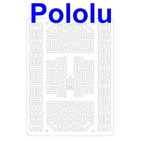 Pololu 1545 - Pololu RP5/Rover 5 Expansion Plate RRC07B (Wide) Transparent Clear