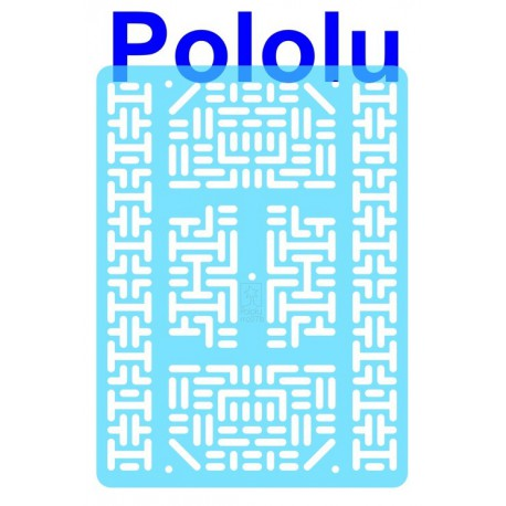 Pololu 1547 - Pololu RP5/Rover 5 Expansion Plate RRC07B (Wide) Transparent Light-Blue