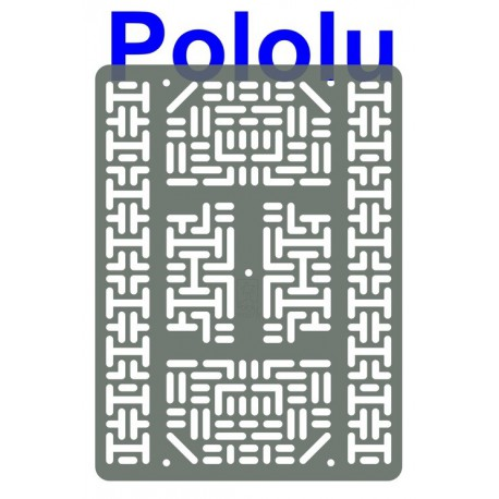 Pololu 1546 - Pololu RP5/Rover 5 Expansion Plate RRC07B (Wide) Transparent Gray