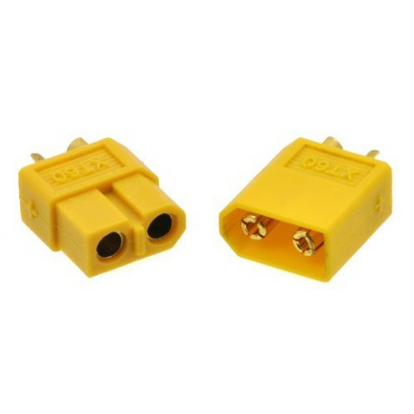 Pololu 2175 - XT60 Connector Male-Female Pair, Yellow