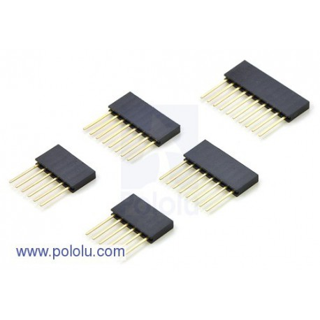"Pololu 1035 - Stackable 0.100"" Female Header Set for Arduino Shields"
