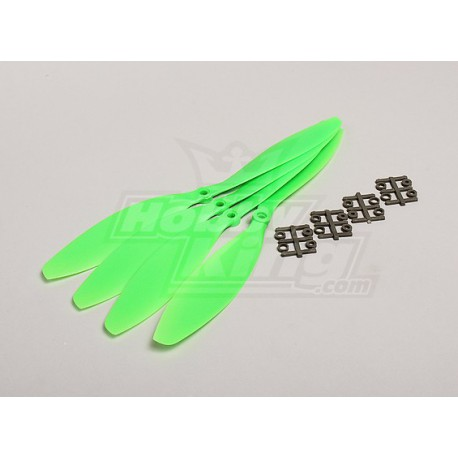 Slow Fly Electric Prop 11x4.7R SF (4 pc - Green Right Hand Rotation)
