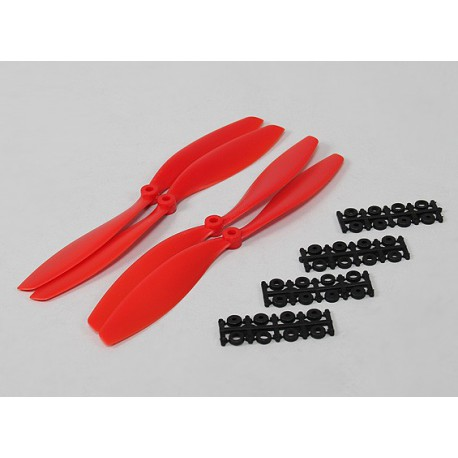 10x4.5 SF Props 2pc Standard Rotation/2 pc RH Rotation (Red)