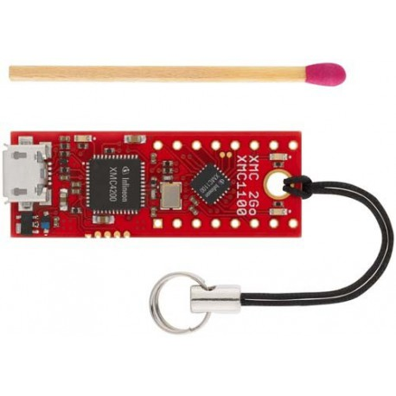 XMC 2Go - zestaw uruchomieniowy z mikrokontrolerem XMC1100 (ARM Cortex-M0) firmy Infineon oraz interfejsem J-Link