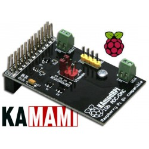 KAmodRPi ADC_DAC - moduł przetwornika A/C i C/A dla komputerów Raspberry Pi3 / Pi2 / Pi+ / Pi (MCP3021, MCP4716)