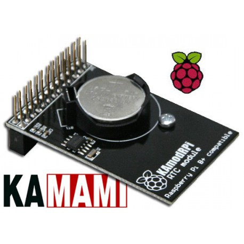 KAmodRPi RTC - moduł zegara czasu rzeczywistego (RTC - M41T00S) dla komputerów Raspberry Pi2, Raspberry Pi+ i Raspberry Pi
