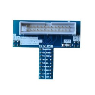 Moduł dołączający linie GPIO do płytki stykowej + konwerter poziomów logicznych