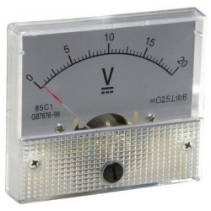 Analog panel voltmeter 0..20V
