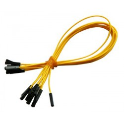 Jumper wires, set of 10 pcs., yellow