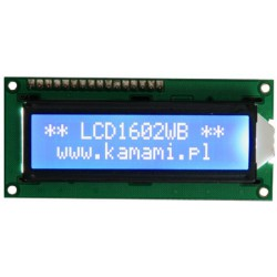 LCD1602WB - 2x16 alphanumeric LCD display