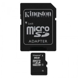 Karta pamięci Kingston micro SDHC 8GB class 4 z adapterem