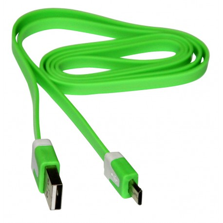 cable-to-USB-A-Microb-USB-1m-green-flat
