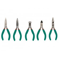 A set of 5 pcs of precision pliers