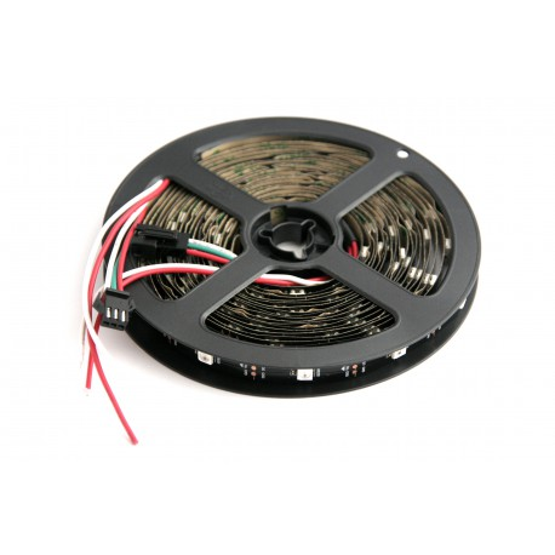LED RGB WS2812B Black Strip 5m 30LEDs/m