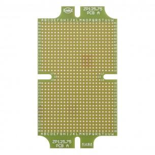 USB A cable - micro-USB B, 1m, white-blue, red illuminated plugs