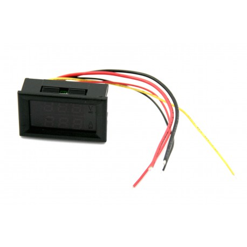 Panel Meter DC100V/10A dual LED