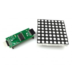 Modular LED matrix 8x8 with controller