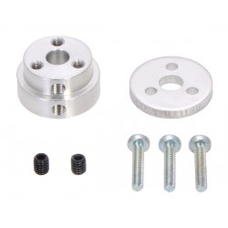 Pololu Aluminum Scooter Wheel Adapter for 1/4 Shaft