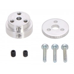 Aluminum wheel adapter for 4 mm shaft