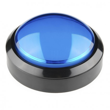 Big Dome Push Button - Blue