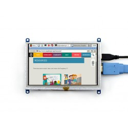 5inch HDMI LCD (B), 800×480 for Raspberry Pi with HDMI and USB