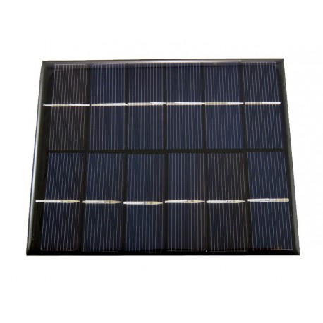 2W solar panel - front view