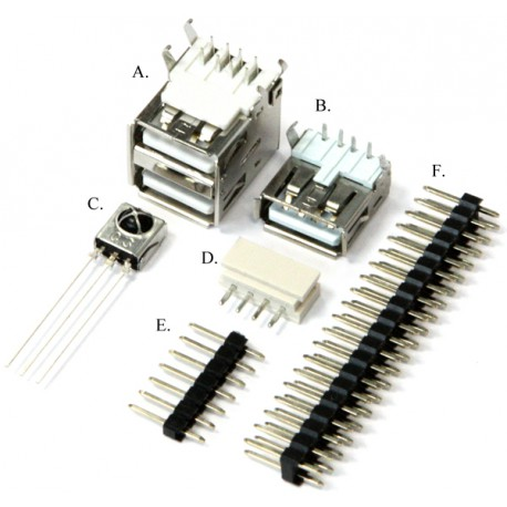 A set of connectors for the ODROID-C0 computer