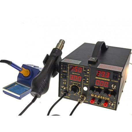 WEP 853D5A - hotair soldering station and 75W soldering iron
