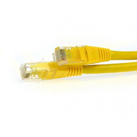 Patchcord UTP Ethernet cable yellow - 2 m