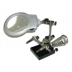 The third hand ZD-10M with a handle and a magnifying glass with LED backlight