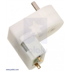 120:1 Mini Plastic Gearmotor HP, Offset 3mm D-Shaft Output