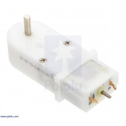 Pololu 1515 - 120:1 Mini Plastic Gearmotor, 90° 3mm D-Shaft Output, Extended Motor Shaft