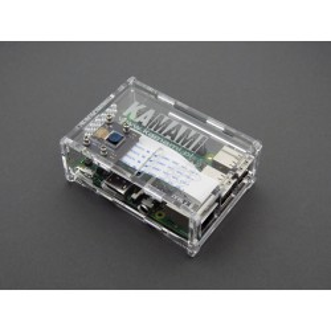 Obudowa do Raspberry Pi 3/2/B+ podwyższona dla modułu kamery, przezroczysta