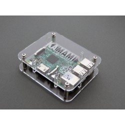 Raspberry Pi 3/2 / B housing + transparent mounted on screws