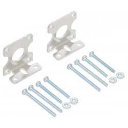 Pololu 2670 - Pololu Stamped Aluminum L-Bracket Pair for Plastic Gearmotors