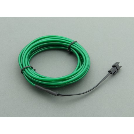 El Wire - 3m long green electroluminescent wire