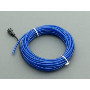 El Wire - niebieski przewód elektroluminescencyjny o długości 5m
