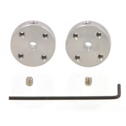 Pololu 1079 - Pololu Universal Aluminum Mounting Hub for 3mm Shaft Pair, 2-56 Holes