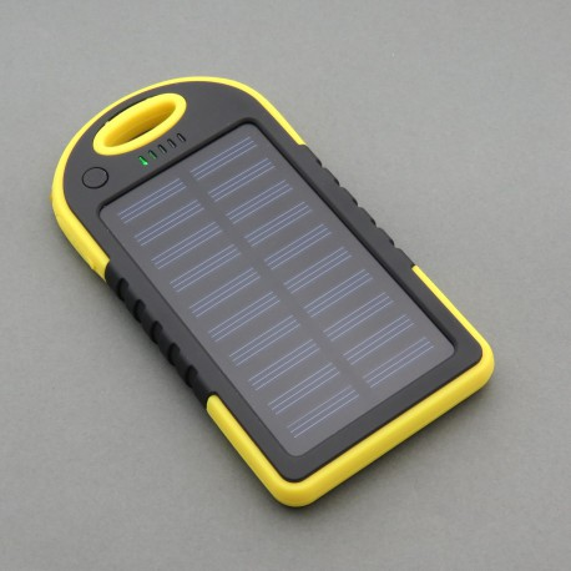 PowerBank 5000mAh 2x USB with a solar cell
