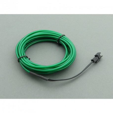 El Wire - a green electroluminescent cable with a length of 5 m