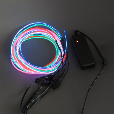 EL Wire - set: power supply + 5 differently colored light wires