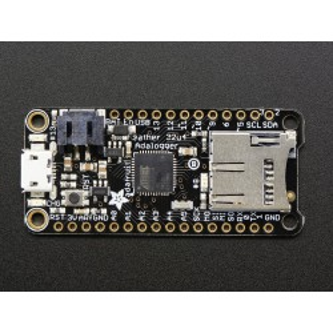 Adafruit Feather 32u4 Adalogger - płytka z mikrokontrolerem Atmel 32u4