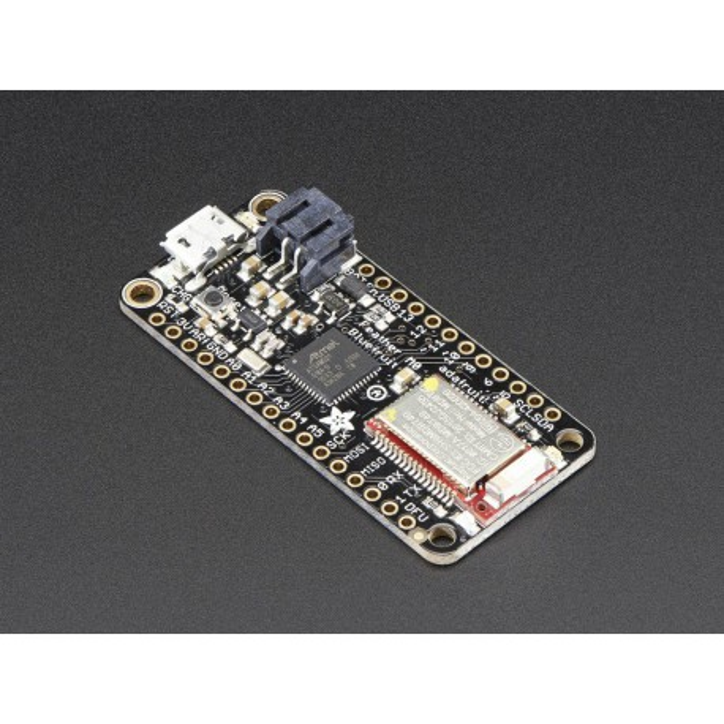 Adafruit Feather M0 Bluefruit LE - płytka z mikrokontrolerem ATSAMD21G18 i interfejsem BLE nRF51822