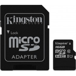 Karta pamięci Kingston microSDHC 16GB klasa 10 z adapterem