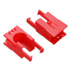 Pololu 3522 - Romi Chassis Motor Clip Pair - Red