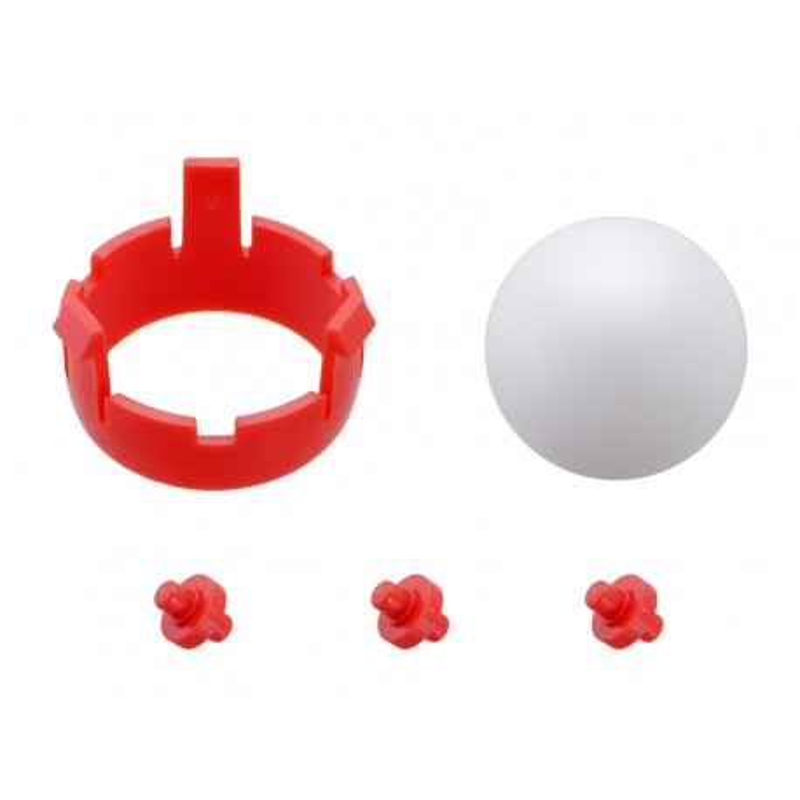 Kulka podporowa + mocowanie - Czerwone