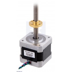 NEMA17 Stepper Motor with 18cm Lead Screw: Bipolar, 200 Steps/Rev, 42×38mm, 2.8V, 1.7 A/Phase